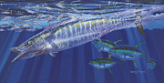 Striped Marlin Prints - Wahoo surprise Off0037 Print by Carey Chen