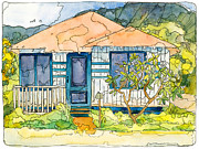 North Shore Mixed Media Prints - Waianae House Print by Stacy Vosberg