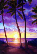 Intense Paintings - Waianae Sunset by Todd Derr