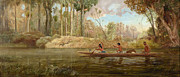 Famous Artists - Waikato River by Kennett Watkins
