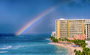 Water Play Art - Waikiki Rainbow by Tin Lung Chao