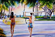 Therese Fowler-Bailey - Waikiki Surfer Girls