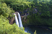 White River Scene Framed Prints - Wailua Falls Framed Print by Brian Harig