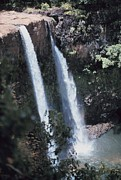 Noaa Prints - Wailua Waterfall  Print by James P McVey