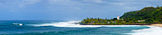 Waimea Bay Panorama Print by Kevin Smith