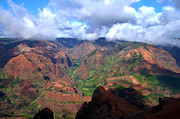 Travel Photography Prints - Waimea Canyon Print by Brian Harig