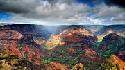 Canyon Photos - Waimea Canyon by Ed Boudreau