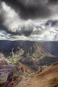 Waimea Valley Prints - Waimea Canyon Lookout V5 Print by Douglas Barnard