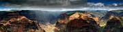 Waimea Prints - Waimea Canyon Panoramic Print by Ed Boudreau