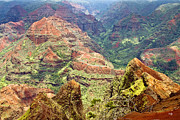 Waimea Prints - Waimea Canyon Print by Scott Pellegrin