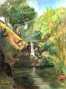 Waimea Falls Prints - Waimea Falls Oahu Hawaii - 1970 Print by Art By Tolpo Collection