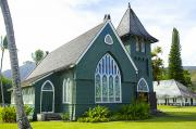 Featured Prints - Waioli Huiia Church in Kauai Print by Kicka Witte