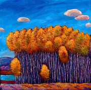 Aspen Trees Paintings - Wait and See by Johnathan Harris