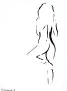 Naked Drawings Originals - Wait for me... by Anna Androsovski