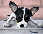 Terrier Paintings - Wait for Me by Beverly Pegasus