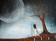 Outsider Art Paintings - Wait Here Ill Be Right Back by Shawna Erback by Shawna Erback