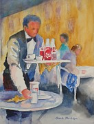 Waiter Metal Prints - Waiter Metal Print by Barbara Parisien