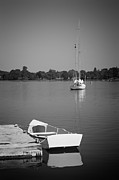 Row Boat Prints - Waitin on the wind Print by Bill  Wakeley
