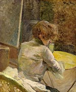 Woman Waiting Prints - Waiting at Grenelle Print by Henri de Toulouse-Lautrec