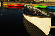 Boats At Dock Prints - Waiting At The Dock Print by Karol  Livote