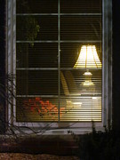 Photography Of Lamps Photos - Waiting At The Window by Guy Ricketts