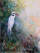 Waterfowl Paintings - Waiting by Bette Orr