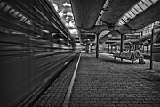 Commuting Prints - Waiting BW Print by Erik Brede