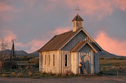 Southwest Church Prints - Waiting.. Print by Carolyn Dalessandro