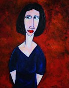 Modigliani Mixed Media Prints - Waiting Print by Craig Martin