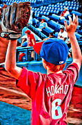 Phillies  Posters - Waiting For A Foul Ball Poster by Alice Gipson