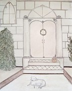 Architectural Design Pastels - Waiting for Christmas by Christine Corretti