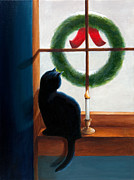 Paintings Available As Prints - Waiting for Christmas by Phillip Compton