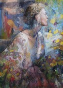 Young Woman Pastels Prints - Waiting for Her love Print by Tonja  Sell
