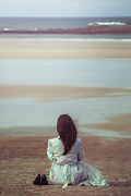 Person Prints - Waiting For High Tide Print by Joana Kruse