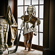 Youth Hockey Art - Waiting For My Big Brother by Elizabeth Urlacher