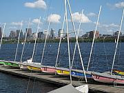 Barbara Mcdevitt Prints - Waiting for sailors on the Charles Print by Barbara McDevitt