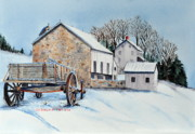 Farm Wagon Prints - Waiting For Spring Print by John W Walker