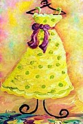 Satin Dress Prints - Waiting for Summer - Impressionism Print by Eloise Schneider