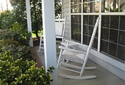 Rocking Chairs Photos - Waiting For Summer by Melissa McCrann
