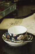 Antique Teacup Framed Prints - Waiting for Tea Framed Print by Margie Hurwich