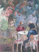 Empty Chairs Painting Originals - Waiting for Tea by Susan Richardson