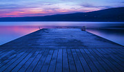 Finger Lakes Prints - Waiting For The Dawn Print by Steven Ainsworth