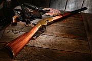 Rifle Photos - Waiting for the Gunfight by Olivier Le Queinec