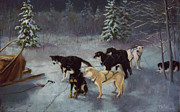 Team Pastels - Waiting for the Musher by Marcus Moller
