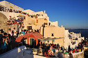 Houses Photos - Waiting for the sunset in Santorini island by George Atsametakis