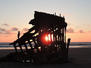 Shipwreck Mixed Media - Waiting for the Sunset - Peter Skene Ogden by Photography Moments - Sandi