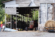 Barn Yard Framed Prints - Waiting For Work Framed Print by Charlie Day