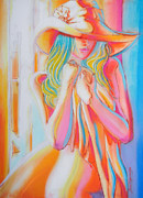 Vibrant Colors Pastels Prints - Waiting For You Ii Print by Juan Jose Espinoza