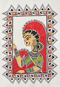 Warli Paintings - WAITING FOR YOU Madhubani-Mithila painting Indian ancient folk art by Aboli Salunkhe