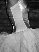 Ballet Art Prints - Waiting Her Turn BW Print by Angelina Vick